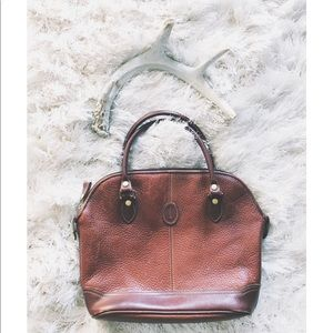 Leather Red Brown Vintage Purse